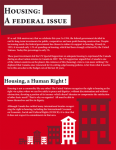 Housing, a federal issue!