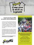 Camp pour le droit au logement – dépliant de mobilisation